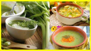 Sopas de verduras Los diabéticos deben siempre llevar una vida saludable y basada en una dieta rica en todos los nutrientes y vitaminas necesarias para el