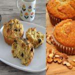Muffins de avena y platano para Diabéticos