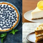 3 tartas de zanahoria, limón y arándanos