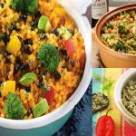 Arroz integral con verduras de temporada