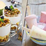 Helados de yogurt y granola para Diabéticos