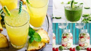 4 bebidas hidratantes con frutas y hojas de menta Hoy les presentamos 4 bebidas hidratantes muy importantes para personas con diabetes. Es importante poder