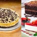 Pasteles de queso y chispas de chocolate