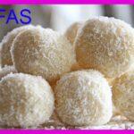 Trufas de coco y chocolate blanco sin azúcar