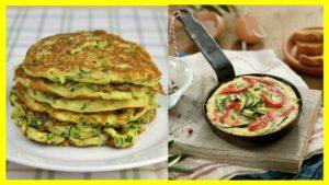 3 Tortillas de calabacín El calabacín es un alimento bastante saludable gracias a sus propiedades y la cantidad de fibra, así que para que