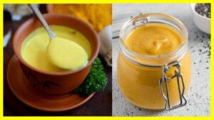 Cómo hacer mayonesa con cúrcuma y ajo La mayonesa es una de las salsas más populares que existen, y aunque su preparación original